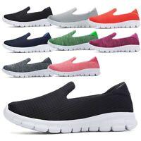 Women Breathable Slip On Sneakers Flat Stretch Sole Walking Shoe loafers jogging