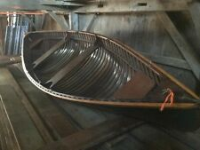 1930 Old Town Canoe Penobscot Bay Double end ender pea pod pulling boat rowing