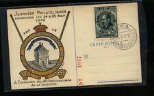 Belgium stamp show postal card 1946 Kl0815