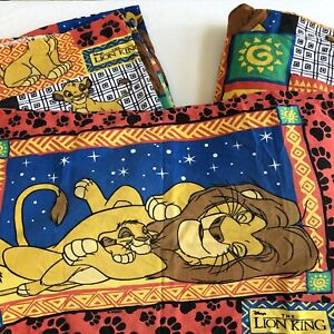 The Lion King Flannel Twin Set Fitted And Flat Sheets Pillow Vintage Disney 90's