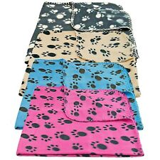 Nueva Manta Polar Suave y cálido para Mascotas Paw Print Design Perros Gatos Cómodo Cálido