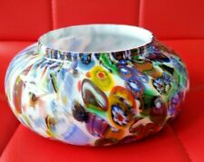 More details for large vintage 1950'60 multicolour glass bowl - really nice