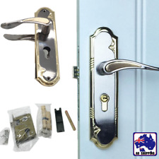 1 Set Lever Handle Door Lock Lockset Bedroom Privacy Dual Latch 3 Keys HLO00802
