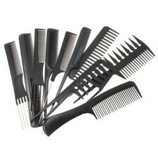 10 PCS Salon Hair Styling Comb Set Profession Hairdressing Plastic Barbers Brush