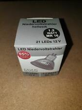 10 Stück Eaxus 21 LED Spot Stahler 12V Hellweiß MR 16