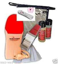 Haarentfernung Intim Set mit Wachsgerät Wachspatrone Rosa medium Strips,Tasche