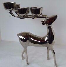 """Chrome Reindeer Candelabra Candle Holder 6 Votive Candle Holder 12"""" x 8"""""""