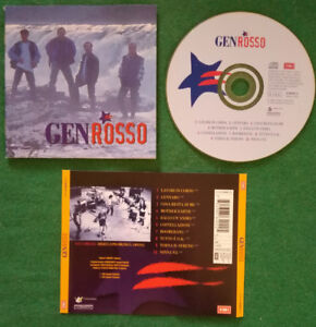 CD Gen Rosso Gen Rosso Rock Pop Italy 1995 Sylvester Productions no lp mc (IT2)
