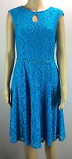 Maggy London Sleeveless Lace Fit & Flare Belted Dress. Size 8