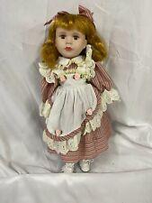 """Vintage Ashley Belle Genuine Porcelain Collectable Red Ginger Hair Girl Doll 16"""""""