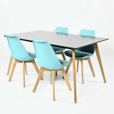 Solid Wood Up to 4 Contemporary Table & Chair Sets