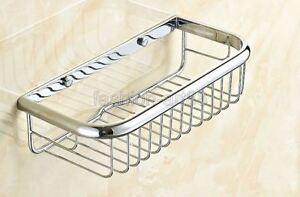 300mm Shower Caddy Basket Bathroom Chrome Cosmetic Shelf Storage/Rack fba524