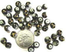 Glass Beads Leopard  Animal Print Brown Dot 6 mm Round DIY Jewelry Making 80 pcs