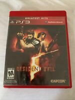 PS3 Resident Evil 5 (Sony PlayStation 3, 2009) Video Game Complete TESTED