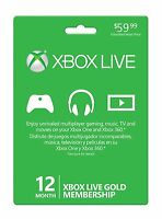 Microsoft Xbox 360 / XBOX ONE LIVE 12 Month Gold Membership Card Subscription