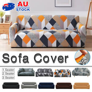 Sofa Cover Couch Lounge Protector Slipcovers High Stretch Covers 1/2/3/4 Seater
