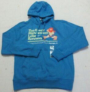 Nike Standard Fit NYC Men's Running Blue Hoodie Size M