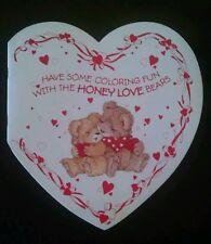 Vintage VALENTINE Card American Greeting honey love Teddy Bears Coloring book 8