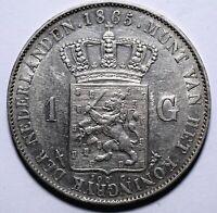 1865 Netherlands One 1 Gulden - Willem III - Lot 154