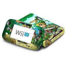 Skin Decal Cover for Nintendo Wii U Console & GamePad - Zelda Four Swords