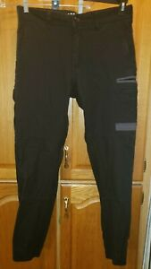 FXD Men's Technical Workwear Sz 34x32 Heavy Black Tapered Fit Pockets Pants