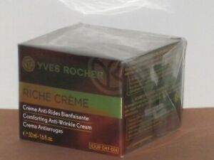 RICHE CREME YVES ROCHER COMFORTING ANTI-WRINKLE CREAM DAY 50 ml.-NEW-SEALED BOX!