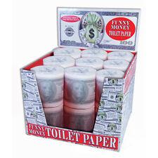 Money Toilet Paper Roll 100 Dollar Bill Tissue TP Benjamin Funny Gag Joke $