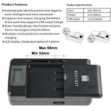 LCD Battery Charger for Nokia Lumia X6 X1-00 C3-00 Asha 200 201 302 Power Supply