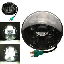 5-3/4'' Motorcycle Projector LED Headlight Daymaker Lamp Hi/Lo Black For Harley