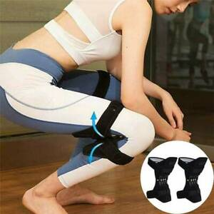 1 Pair Knee Pads Booster Joint Support Lift Squat Sport Power Spring Force Brace