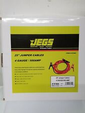 JEGS Premium Booster Cable 4 Gauge 25 ft 500 AMP Car Battery Jumper 81964 NEW