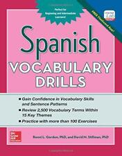 Spanish Vocabulary Drills (Grammar Drills) by Stillman, David M., Gordon, Ronni