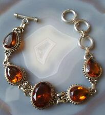 Bracciali di lusso in argento in argento sterling ambra