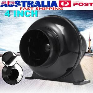 4'' Inline Duct Booster Fan Ventilation Exhaust Air Blower 170m³/h 2200 r/mi TT