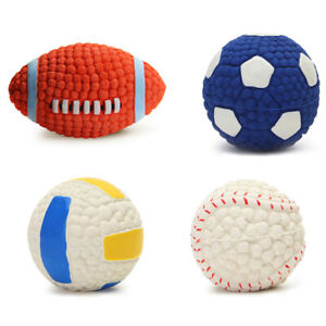 Pet Dog Toy Ball Squeaky Puppy Interesting Tennis Football Teeth Cleaning Tool