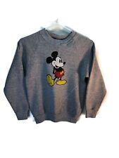 Vintage Mickey Mouse 1980 Grey Crewneck Sweater Walt Disney Size Youth Xl
