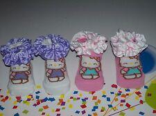 Hello Kitty Crib Shoes/Booties/Socks Baby Infant Sz 0-12 Mos Ruffle Dot NIB