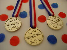 12 plastic winners medals - sports day / kids parties / awards
