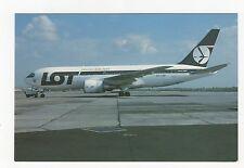 LOT Polish Airlines Boeing 767-25DER Aviation Postcard, A767