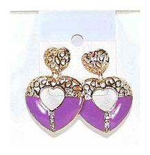 Boucles d'oreille, oreilles percées clou métal or strass bijoux fantaisie neuf