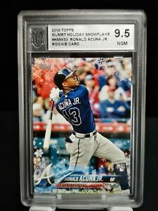 RONALD ACUNA Jr 2018 Topps Holiday Snowflake ROOKIE Graded ACA 9.5 BGS? RC #50
