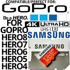 Samsung 128GB U3 4K SD XC For GoPro Hero8 Hero7 Hero6 Hero5 Hero4 Micro SD Card
