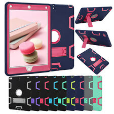 """Hybrid Shockproof Case Stand Cover For iPad 2 3 4 5 6 9.7"""" 2018 Air 1/2 Mini PRO"""