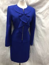 TAHARI BY ARTHUR LEVINE SUIT/SIZE 12/NEW /COBALT/RETAIL$280/LINED/SKIRT LENGTH22