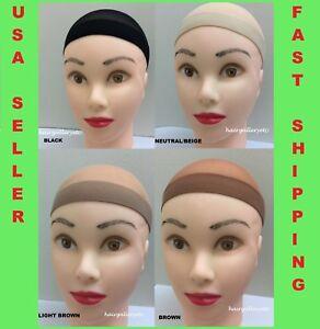 Stocking Wig Cap Wig Liner Weaving Cap Black Brown Neutral Nylon Stretch 2pc USA