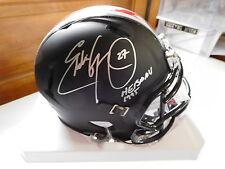 Eddie George signed Black Ohio State  mini helmet, JSA, Heisman . #27