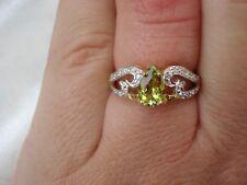 Certified Natural Cuprian Tourmaline & Diamond Gold Ring