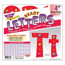 Jazzy Gems 4Inch Display Letters Classroom Decoration - 216 Characters