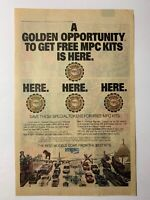 1982 MPC Model Kit Golden Opportunity Token Vintage Magazine Comic Ad Print Page