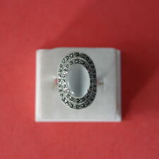 Beautiful 18 Kt Gold Filled Ring With Marcasite 7.5 Gr.Size M ONLY In Gift Box
